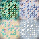 Uppsättning av triangelmodeller Royaltyfria Bilder