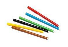 Uppsättning av tuschpennor av olika färger Arkivbilder