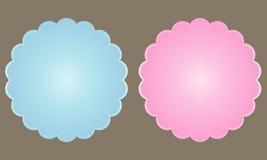 Uppsättning av två färgetiketter Arkivfoton