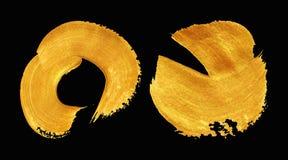 Uppsättning av två guld- fläckar Royaltyfri Bild