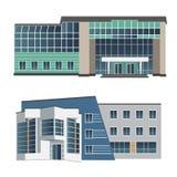 Uppsättning av två moderna byggnader för vektorillustration Royaltyfri Foto