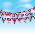 Uppsättning av UK-bunting royaltyfri illustrationer