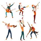 Uppsättning av ungdomaratt dansa Arkivfoto