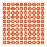 Uppsättning av 100 universella symboler Affär internet, rengöringsdukdesign vektor illustrationer