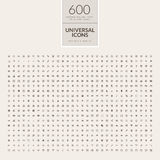 Uppsättning av universella symboler för rengöringsduk och mobil