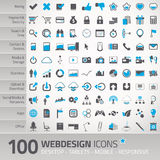 Uppsättning av universella symboler för webdesign Arkivfoto