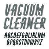 Uppsättning av upper-case alfabetbokstäver för förtätad, högväxt kall vektor Arkivfoton