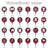 Uppsättning av utbildningssymboler Royaltyfri Bild