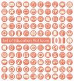 Uppsättning av utbildningssymboler Arkivbild