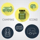 Uppsättning av utomhus- affärsföretagsymboler, emblem och vektor illustrationer