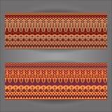Uppsättning av utsmyckade baner för härlig tappning Royaltyfri Fotografi