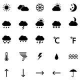 Uppsättning av vädersymboler, illustration