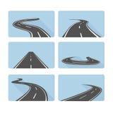 Uppsättning av vägar royaltyfri illustrationer