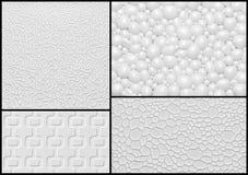 Uppsättning av väggpanelen för lättnad 3d med den abstrakta geometriska modellen. Arkivfoton