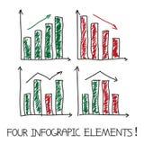 Uppsättning av våra infographic beståndsdelar Arkivbilder