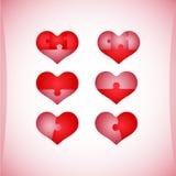 Uppsättning av valentin symboler, designbeståndsdelar Royaltyfria Foton