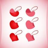 Uppsättning av valentin symboler, designbeståndsdelar Fotografering för Bildbyråer