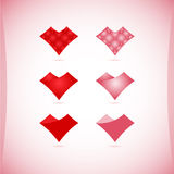 Uppsättning av valentin symboler, designbeståndsdelar Royaltyfri Bild
