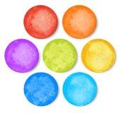 Uppsättning av vattenfärgcirklar Royaltyfri Foto