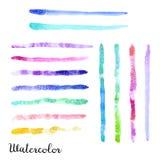 Uppsättning av vattenfärgslaglängder Fotografering för Bildbyråer