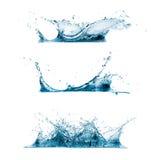 Uppsättning av vattenfärgstänk Arkivbild