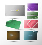 Uppsättning av vektorabstrakt begreppbaner för bakgrund, annonsering, internet, design Fotografering för Bildbyråer