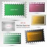 Uppsättning av vektorabstrakt begreppbaner för bakgrund, annonsering, internet, design Royaltyfri Bild