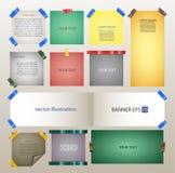 Uppsättning av vektorbaner från ark av kanalbandet Royaltyfri Fotografi