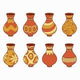 Uppsättning av vektorbeståndsdelar (vaser) Royaltyfria Foton