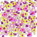 Uppsättning av vektorblommor Royaltyfri Fotografi