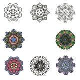 Uppsättning av vektordesignen av blommor Royaltyfri Bild