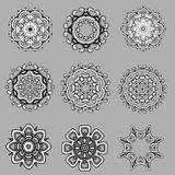 Uppsättning av vektordesignen av blommor Royaltyfri Foto