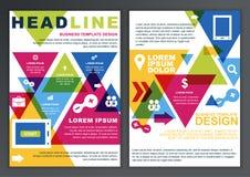 Uppsättning av vektordesignmallen för affär, broschyr, reklamblad, pos. Arkivbild
