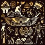 Uppsättning av vektorEgypten symboler Royaltyfri Fotografi