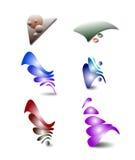 Uppsättning av vektorlogoer Arkivbild