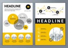 Uppsättning av vektormallen för broschyren, reklamblad, affisch, applikation Royaltyfria Bilder