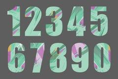 Uppsättning av vektornummer, från 1 till 0 Royaltyfri Fotografi