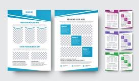 Uppsättning av vektorreklamblad med abstrakta diagonala designbeståndsdelar Arkivfoto