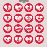 Uppsättning av vektorsymboler av hearts_1 Royaltyfri Fotografi