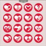 Uppsättning av vektorsymboler av hearts_2 Royaltyfri Foto