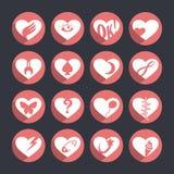 Uppsättning av vektorsymboler av hearts_4 Royaltyfri Bild