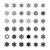 Uppsättning av vektorsymboler och modellborstar Royaltyfri Illustrationer