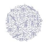 Uppsättning av vektorutrymme i cirkelsymbolen Royaltyfria Foton