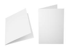 Uppsättning av vikta ark för papper A4 Arkivfoto