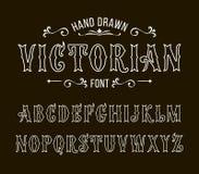 Uppsättning av viktorianska stilalfabetbokstäver Royaltyfri Foto