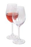Uppsättning av vinexponeringsglas Arkivfoto