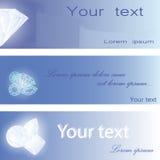 Uppsättning av visitkortar med diamanter Royaltyfri Foto