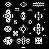 Uppsättning av vita geometriska beståndsdelar för vektor Arkivbild