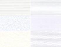 Uppsättning av vita texturer. Royaltyfri Foto
