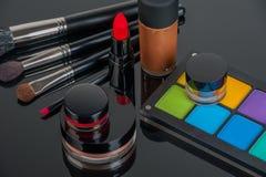 Uppsättning av yrkesmässig makeup Royaltyfria Foton